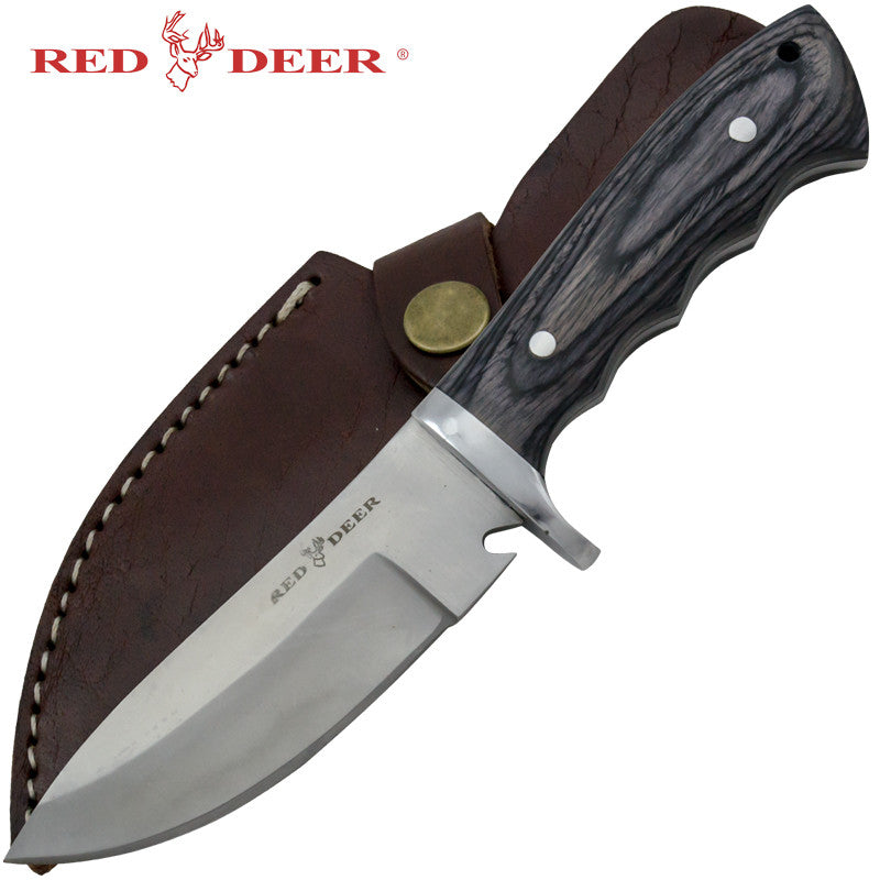 Red Deer Game Skinner Pakka Full Tang Hunting Knife
