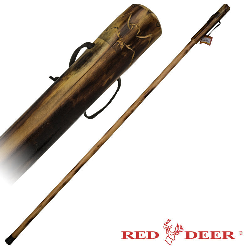 Red Deer Hand Carved Walking Cane - Eagle Handle - Panther Wholesale
