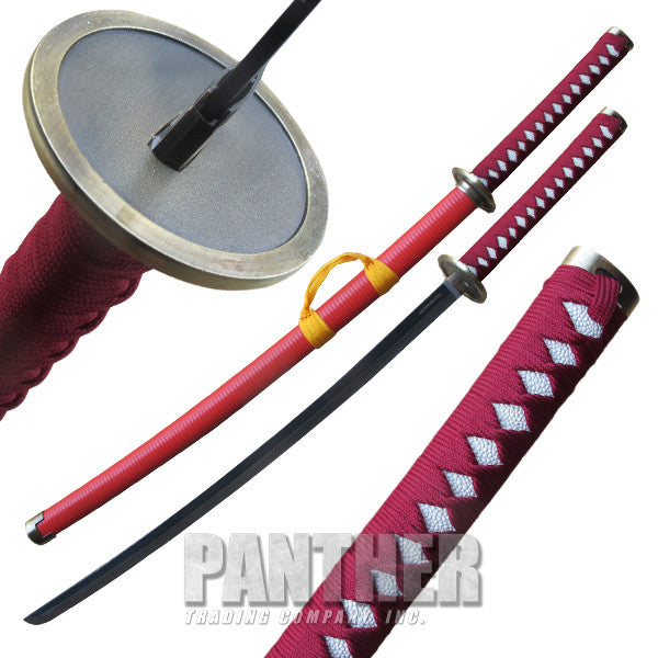 Red Jacket Katana Sword with Scabbard, , Panther Trading Company- Panther Wholesale