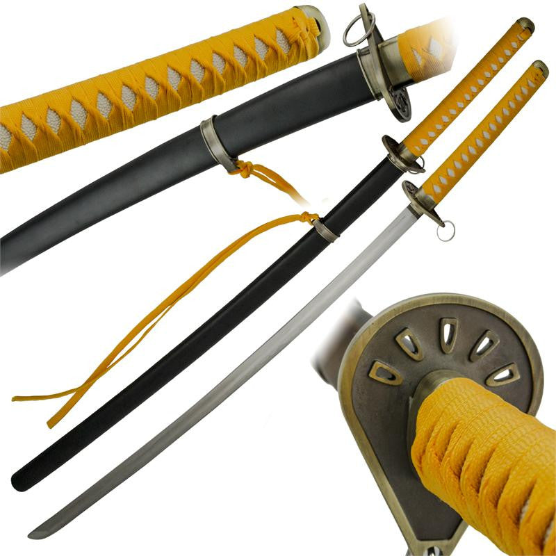 Replica Yellow Katana with Scabbard