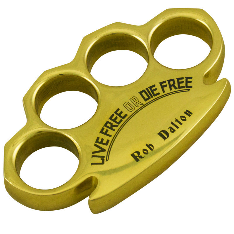 Rob Dalton Live Free Die Free Heavy Duty Brass Buckles, , Panther Trading Company- Panther Wholesale