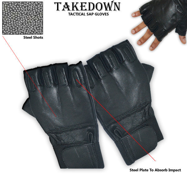 Medium Fingerless Sap Gloves, , Panther Trading Company- Panther Wholesale