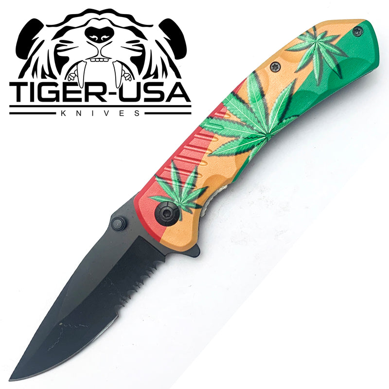 Tiger-USA Spring Assisted Knife - Mary J Rasta