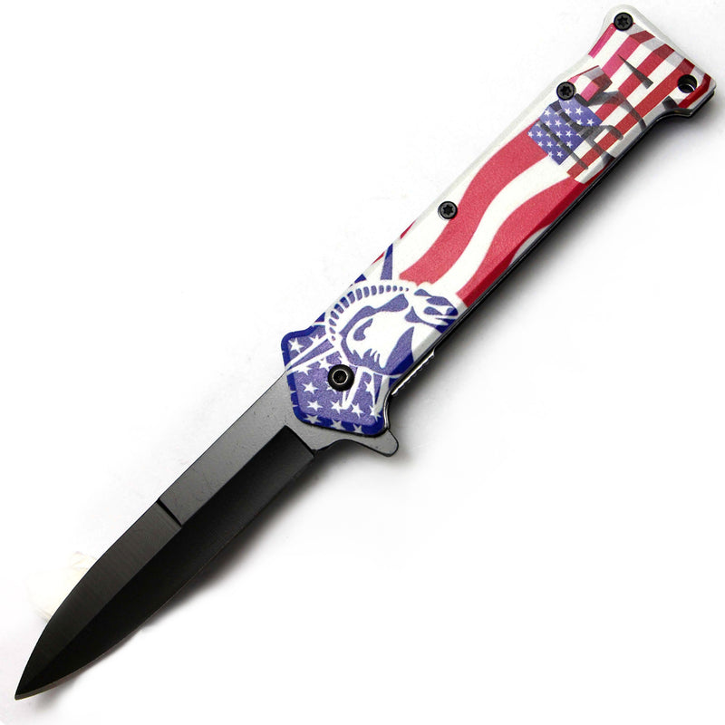 Tiger-USA Spring Assisted Knife - Statue of Liberty