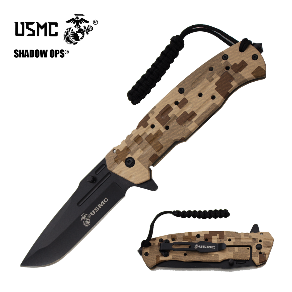 USMC The Marine Showcase Special with Knives and Free Display Case Comes with 96 Knives, , Panther Wholesale- Panther Wholesale