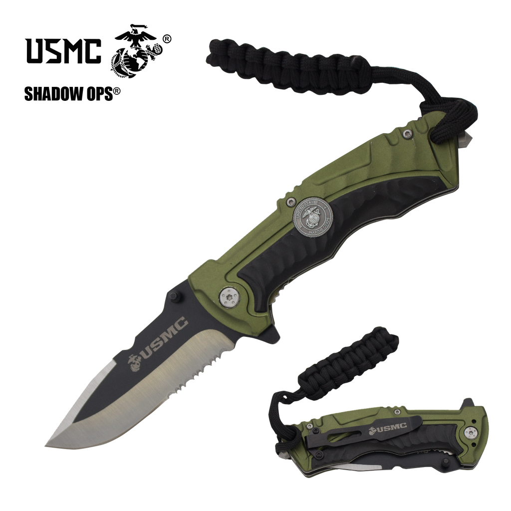 USMC The Marine Showcase Special with Knives and Free Display Case (Free Shipping - One Week ONLY) - Panther Wholesale