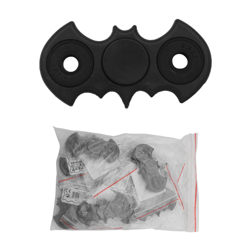 The Bat Fidget Spinners (Black) - 12per bag, , Panther Wholesale- Panther Wholesale