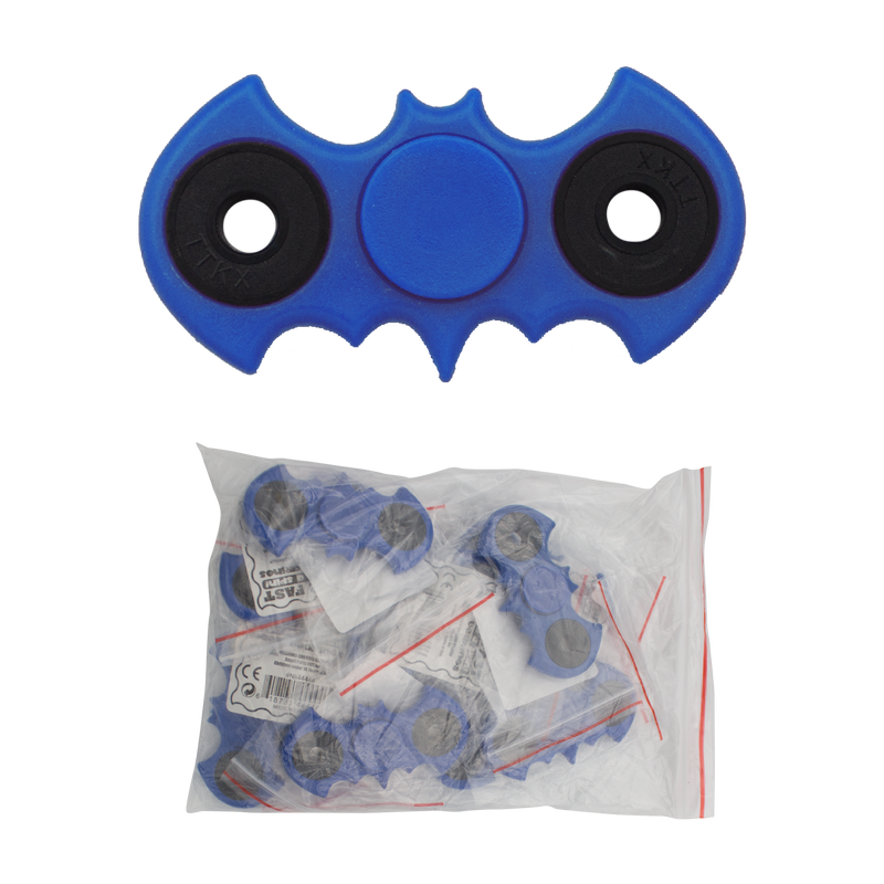 The Bat Fidget Spinners (Blue) - 12per bag, , Panther Wholesale- Panther Wholesale