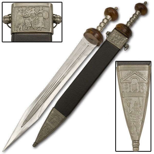 Greco-Roman Mini Sword with Leather Wrapped Scabbard, , Panther Trading Company- Panther Wholesale