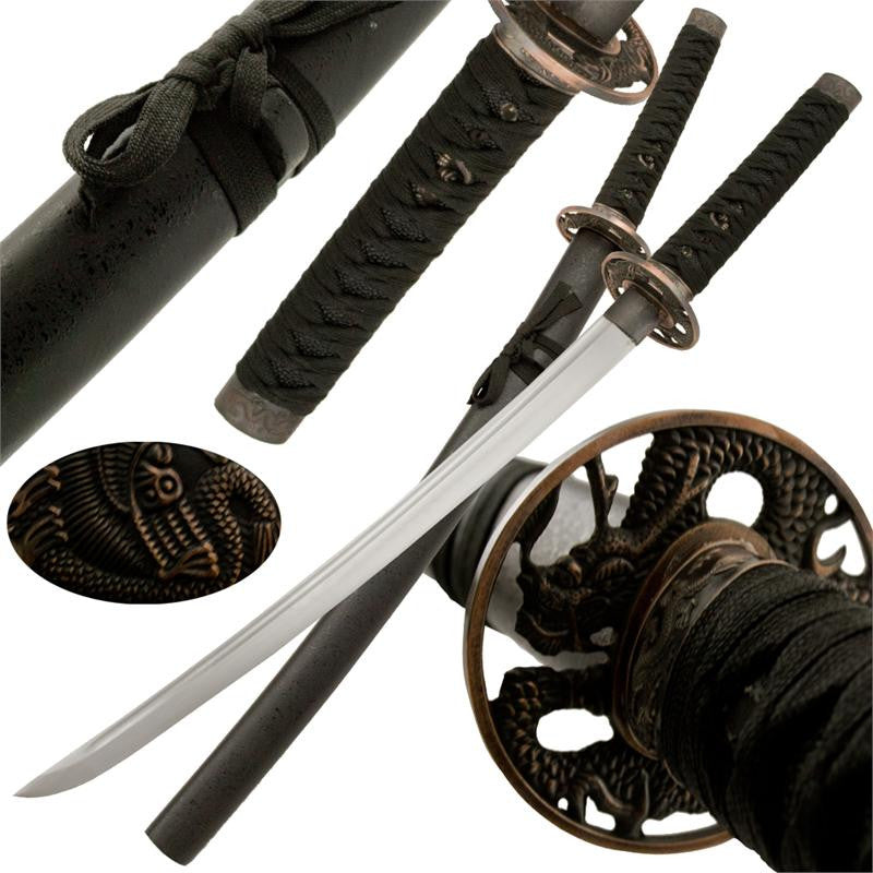 Bronze Buff Samurai Katana Sword with Scabbard, , Panther Trading Company- Panther Wholesale