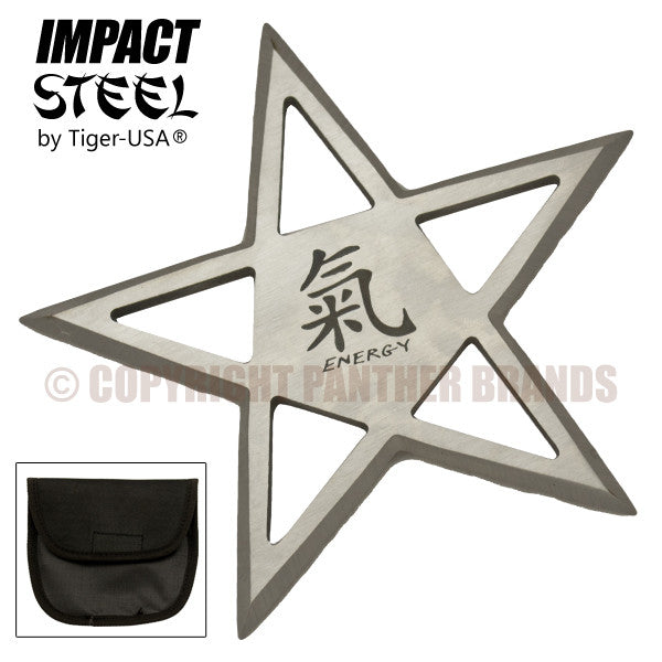 Silver Energy Pentagram Thrower by Tiger-USA, , Panther Trading Company- Panther Wholesale