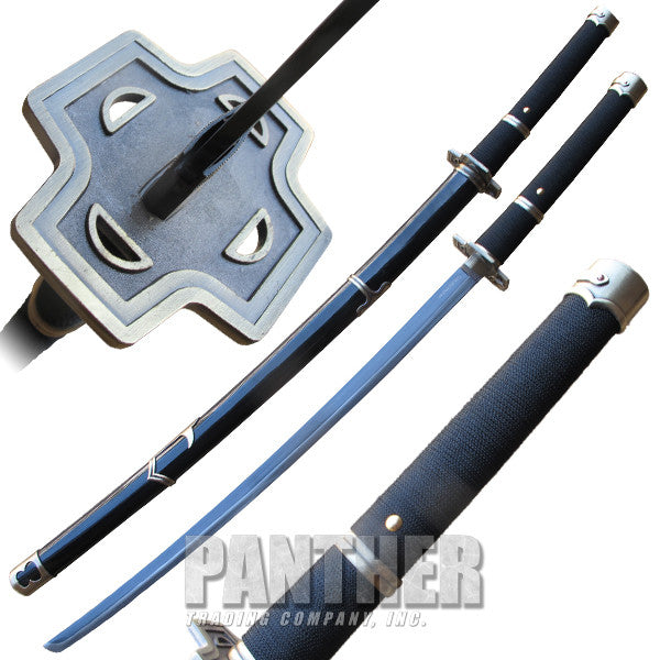 Martial Arts Katana Sword with White Fur Guard, , Panther Trading Company- Panther Wholesale