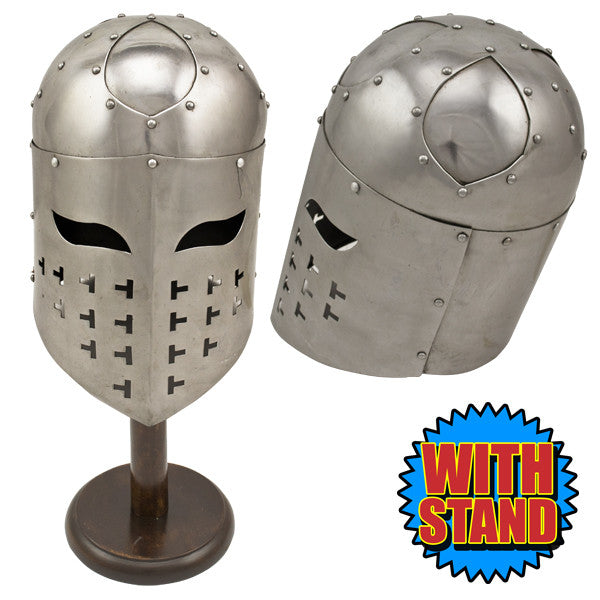 Vikings Spangenhelm Helmet with Stand Included, , Panther Trading Company- Panther Wholesale