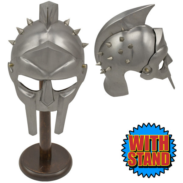 Roman Warrior Spiked Gladiator Helmet w/ Stand