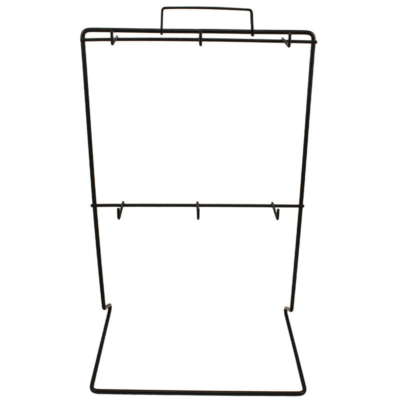Steel Display Rack with 6 Hooks, , Panther Trading Company- Panther Wholesale