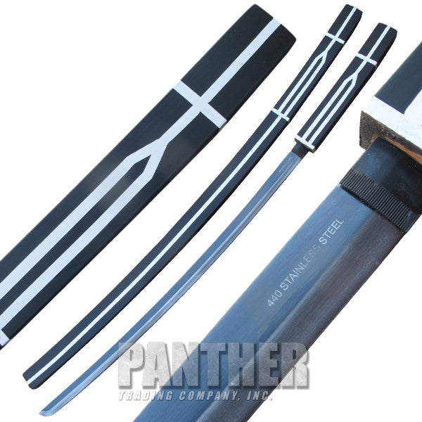 Super Ninja Katana Sword with Wooden Scabbard, , Panther Trading Company- Panther Wholesale