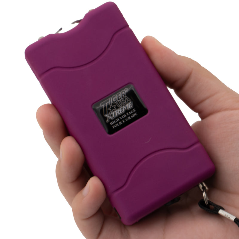96 Mill Dark Purple Rechargeable Stun Gun & Flash Light