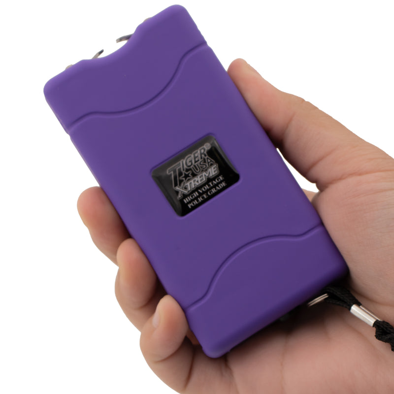 96 Mill Purple Rechargeable Stun Gun & Flash Light
