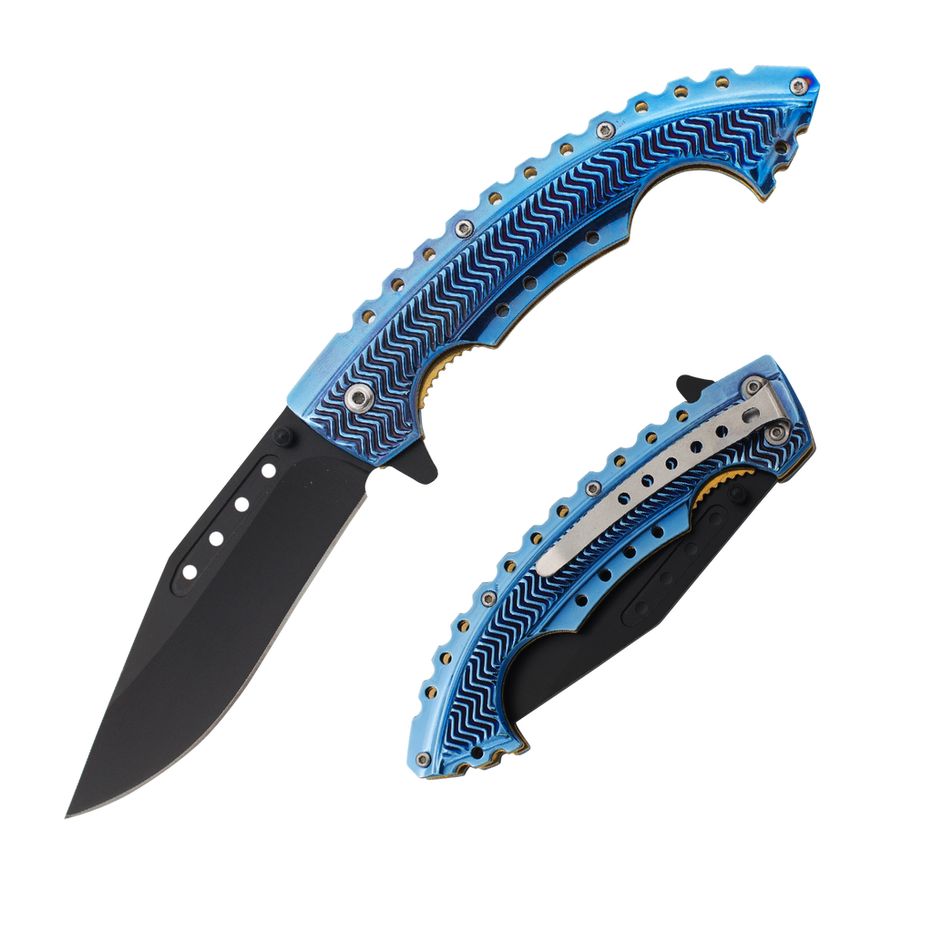 Blue Strike Trigger Action Knife