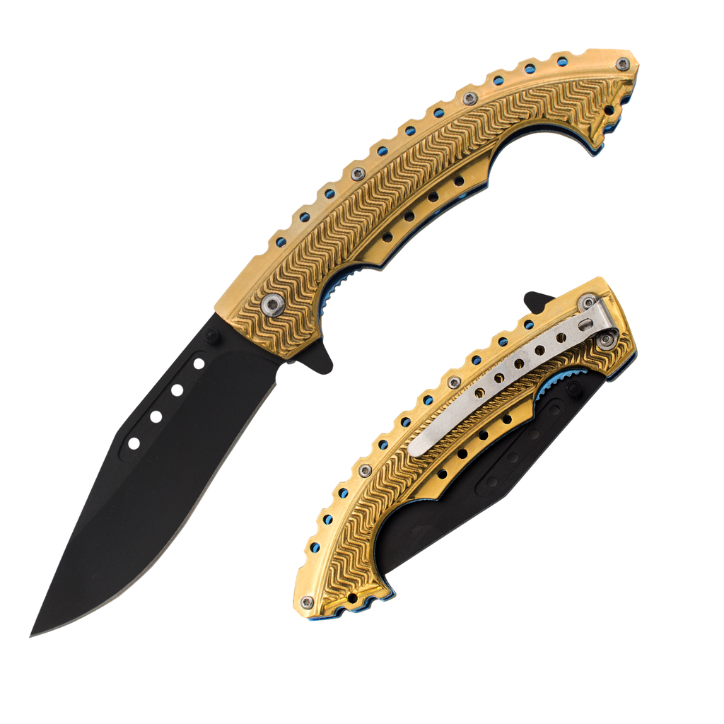Gold Rush Trigger Action Knife, , Panther Trading Company- Panther Wholesale