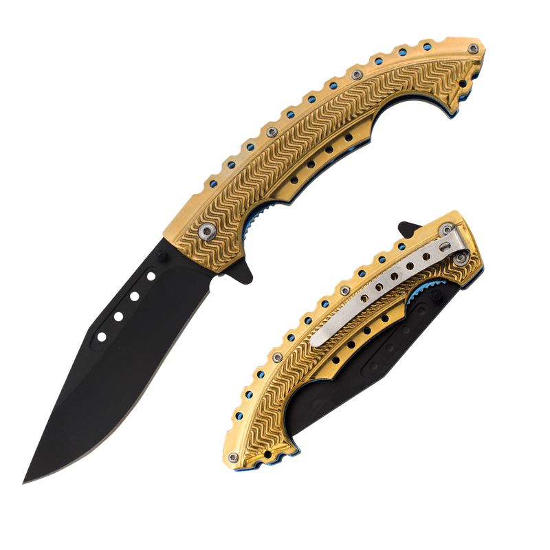 Gold Rush Trigger Action Knife