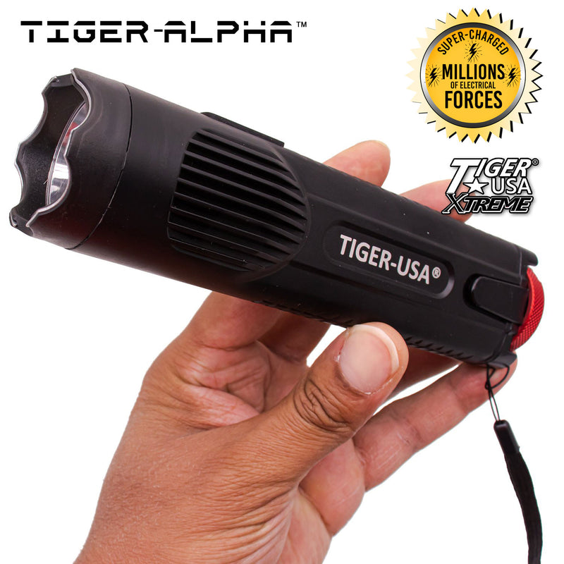 150 Mill V Tiger-Alpha™ Tiger USA Xtreme Stun Gun Flashlight