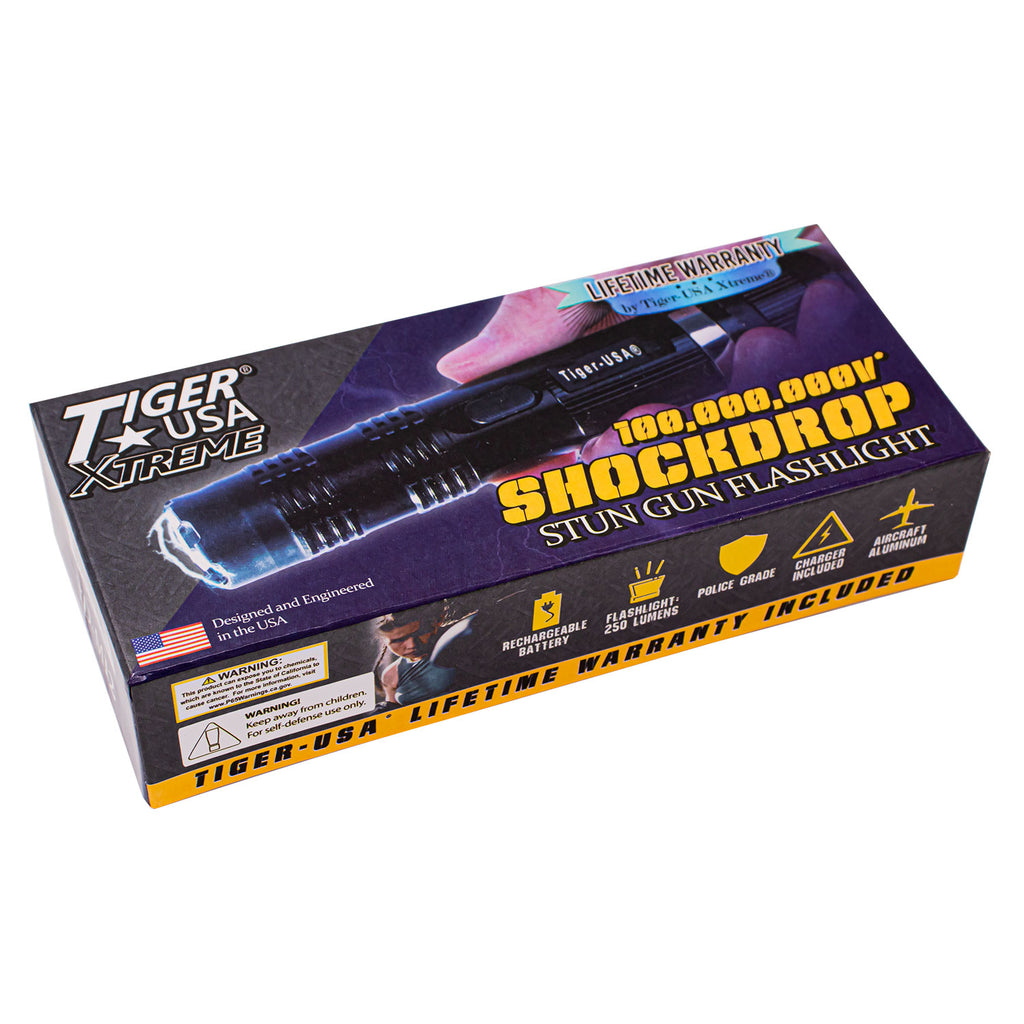 SHOCKDROP Tiger-USA Xtreme® 100 Mill Stun Gun Flashlight