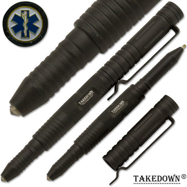 E.M.S Emergency Medical Services Tactical Defense & Writing Pen Black, , Panther Trading Company- Panther Wholesale