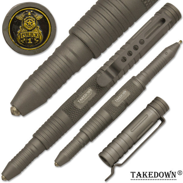 Police & Law Enforcement Tactical Self-Defense Tool & Pen Grey, , Panther Trading Company- Panther Wholesale
