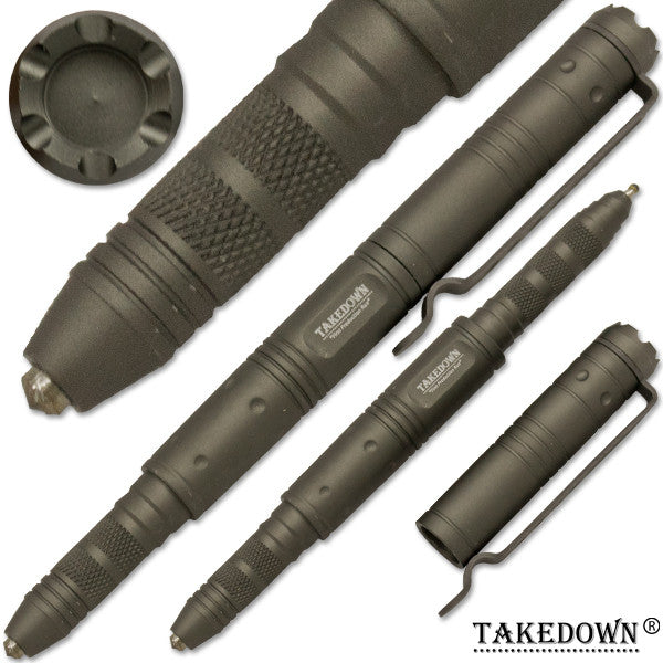 Takedown Tactical Pen - Grey, , Panther Trading Company- Panther Wholesale