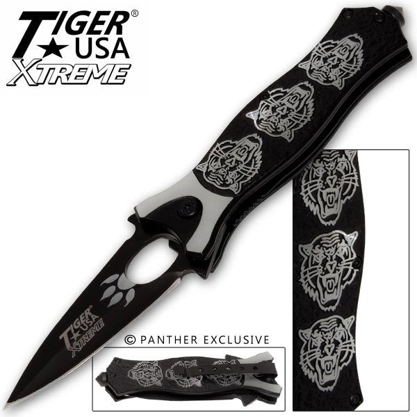 Tiger USA Xtreme Tiger Roar Knife - Silver, , Panther Trading Company- Panther Wholesale