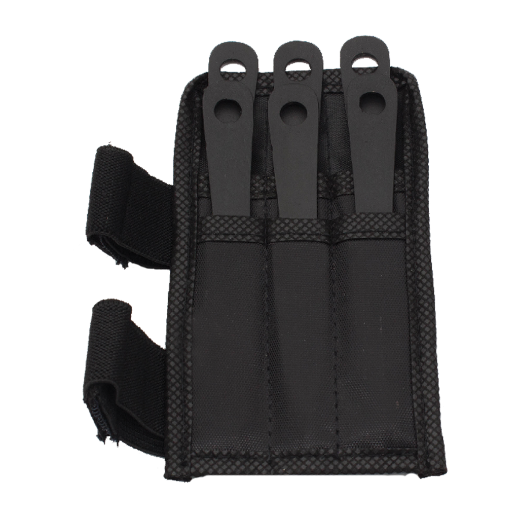 6 PC 4.5 Inch Mini Throwing Knives W/ Wrist Carrying Case, , Panther Trading Company- Panther Wholesale