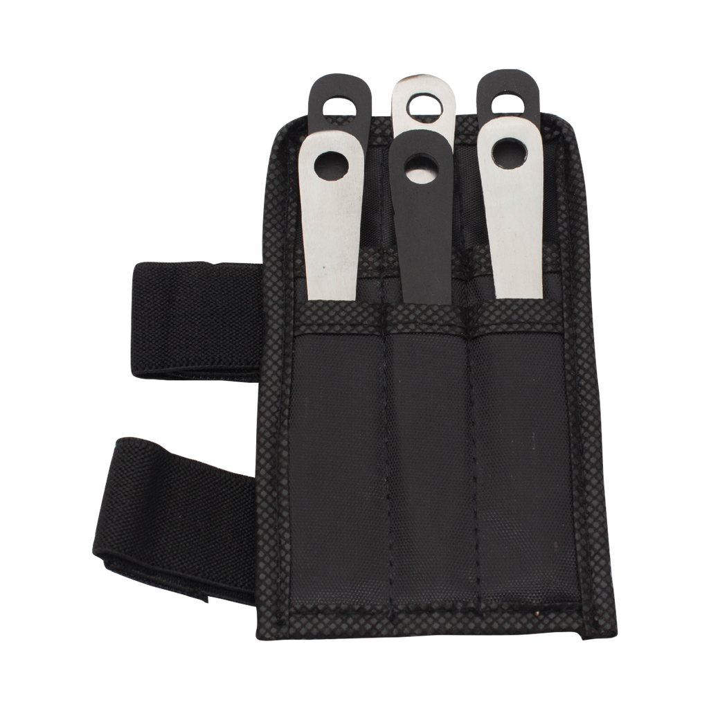 6 PC 4.5 Inch Mini Throwing Knives W/ Wrist Carrying Case