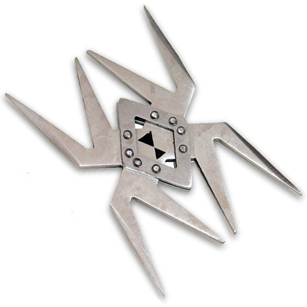 Spider Throwing Star- Silver, , Panther Trading Company- Panther Wholesale