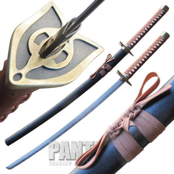 Tragedy Katana with Black and Gold Scabbard, , Panther Trading Company- Panther Wholesale