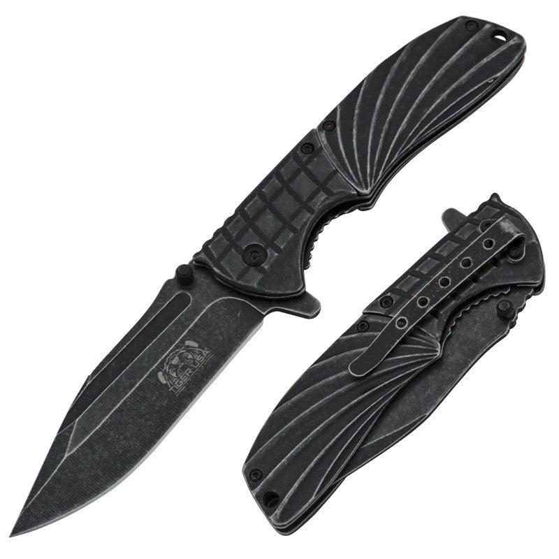 The Stonewashed Skyhawk Trigger Action Folding Knife Limited Edition, , Panther Trading Company- Panther Wholesale
