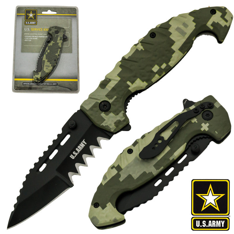 U.S. Army Official Trigger Action Tactical Knife, , Panther Trading Company- Panther Wholesale