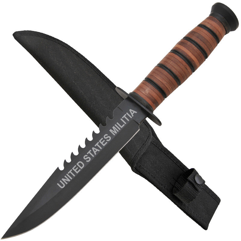 United States Militia Combat Knife W/ Free Hard Sheath, , Panther Trading Company- Panther Wholesale