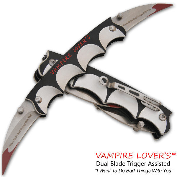 Vampire Lover's Trigger Action Dual Knife