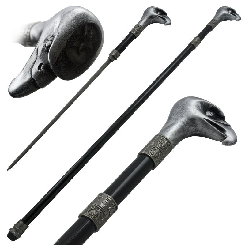 Eagle Head Steel Cane Hidden Sword, , Panther Trading Company- Panther Wholesale