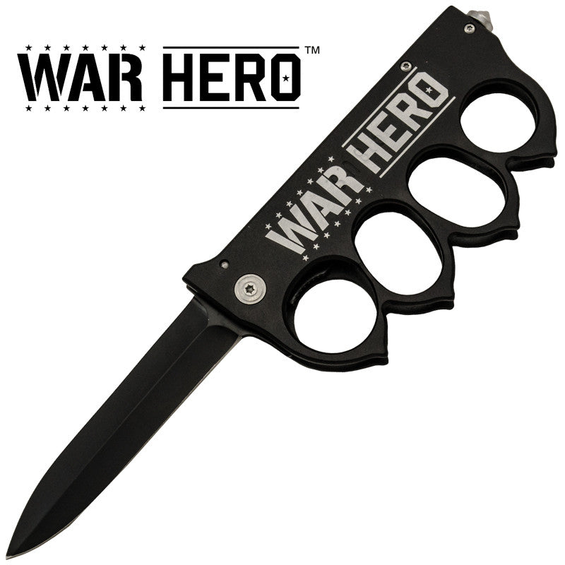War Hero Brass Buckle Trigger Action Folder, , Panther Trading Company- Panther Wholesale