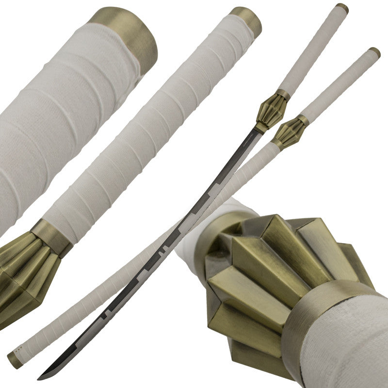 White Samurai Defeater Sword Set with Scabbard, , Panther Trading Company- Panther Wholesale
