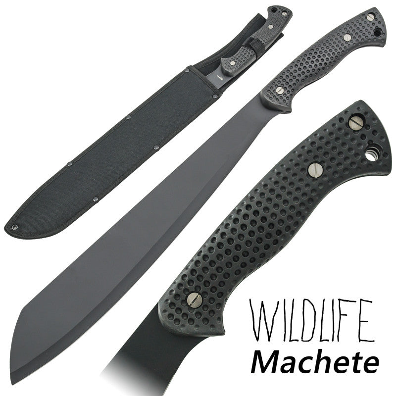 Wildlife Machete Full Tang Textured Grip Handle, , Panther Trading Company- Panther Wholesale