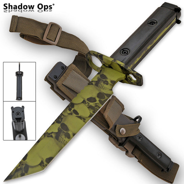 Heavy Duty Shadow Ops Bayonet Undead Skull, , Panther Trading Company- Panther Wholesale