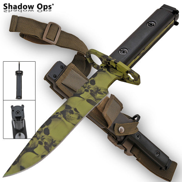 Heavy Duty Shadow Ops Bayonet Undead Skull - Drop Point, , Panther Trading Company- Panther Wholesale