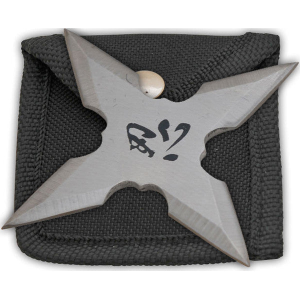 "3 Inch Throwing Star W/ ""Tolerance"" Chinese Symbol- Silver, , Panther Trading Company- Panther Wholesale"