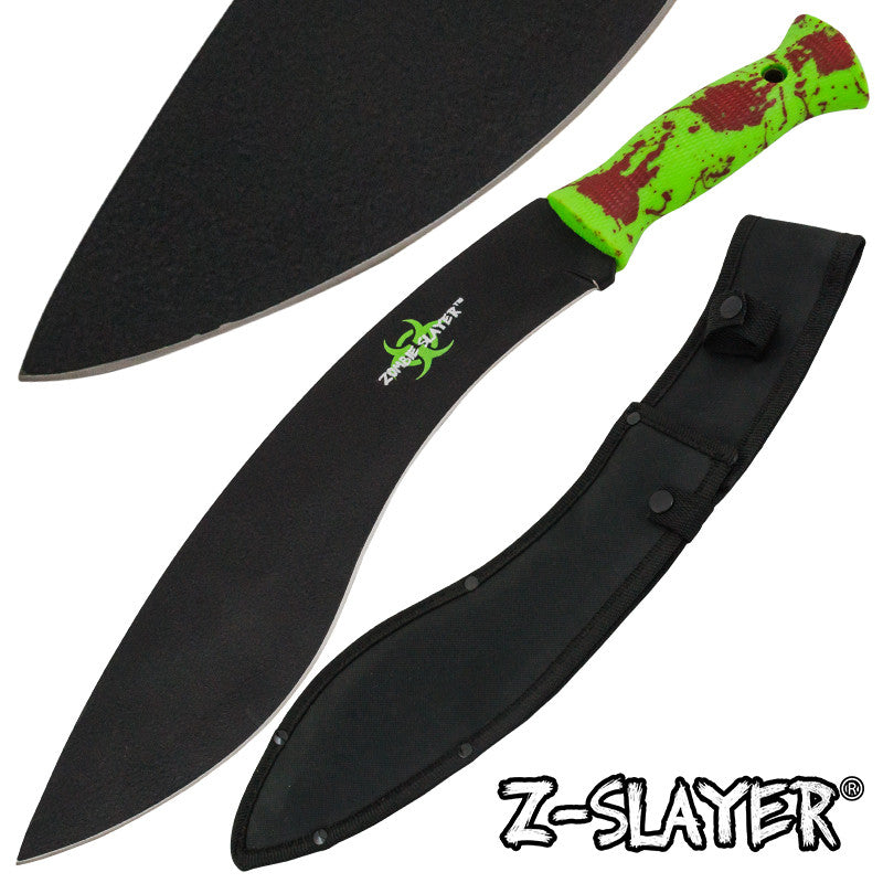 Z-Slayer Undead Blood Gurkha Kukri Full Tang Machete, , Panther Trading Company- Panther Wholesale
