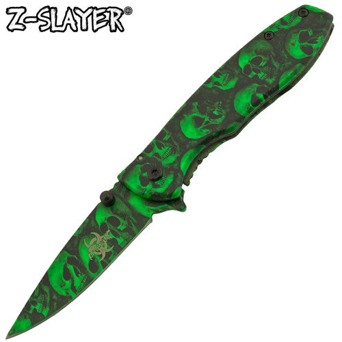 BUY 1 GET 1 FREE: Z-Slayer Undead Gasher Tiger-USA Skulldeath Knife, , Panther Trading Company- Panther Wholesale