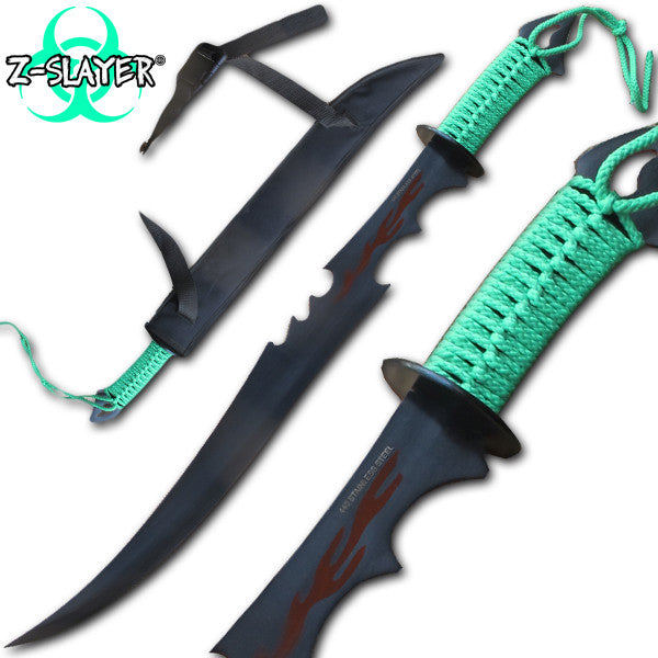 Z-Slayer Zombified Slayer Undead Sword, , Panther Trading Company- Panther Wholesale