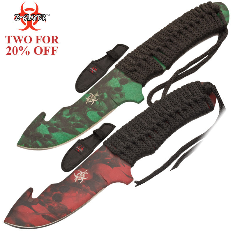 Dual Knife Z-Slayer Hunting Skinner Two For 20% Off Set, , Panther Trading Company- Panther Wholesale
